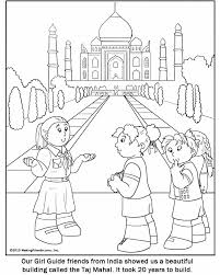 Small Picture Indian Girl Guide coloring page for your Girl Scout World Thinking