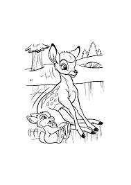 Bambi Wat Is Het Glad Op Het Ijs Bambi Kleurplaten Kleurplaatcom