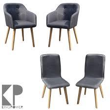 Details About 2 4 6 8 Set Stühle Esszimmerstühle Stuhl Sessel Armlehne Grau Kingpower