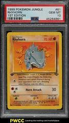 Detailing all effects of the card. Rhyhorn 1st Edition 61 Prices Pokemon Jungle Pokemon Cards