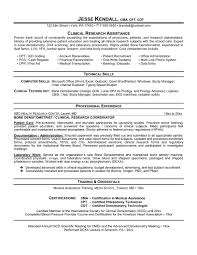 Research Coordinator Resume Resume For Study