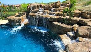 inground pools with waterfalls and slides. Inground Pool Waterfalls Waterfall Slide . Pools With And Slides C