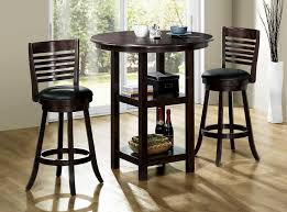 three piece dining set: modern  pieces counter height bistro dining set with storage full size