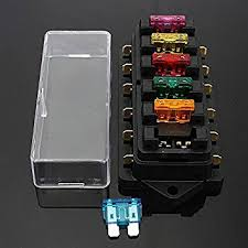 audew car fuse box holder fuse boat 6 way circuit blade audew car fuse box holder fuse boat 6 way circuit blade block 12v
