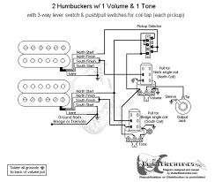 Wiring Diagrams For Split Humbuckers 1 Volume 1 Tone Single Humbucker One Volume Wiring EMG