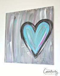 diy abstract heart painting and a fun paint party