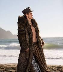 jon snow fur coat burning man playa jacket mens costume faux fur