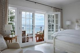 open french doors. using french doors for a home that faces the ocean allow owners to get better glimpse of outdoor beauty. open