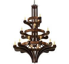 extra large wood and iron chandelier facebook share