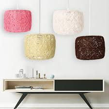 E27 Moderne Hanglamp Touw Plafondlamp Kroonluchter Home Armatuur Decoratie Lamp Cover