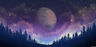 Moon Forest Purple Galaxy 4K Animated ...