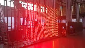 flexible led curtain display p84 outdoor transpa led display