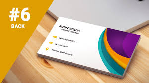 Best Way To Design Business Cards 6 How To Design Business Cards In Photoshop Cs6 Colorful 3d Back