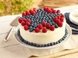 blueberry and raspberry cake