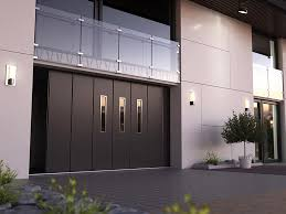 sliding garage doorDecorations  Luxury Brown Wooden Side Sliding Garage Doors With