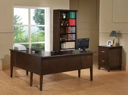 shaped office desk t m l f white