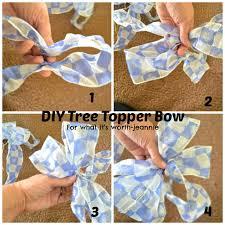 diy 2btree 2btopper 2bbow bow tree topper diy