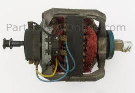 whirlpool dryer drive motor 695075 partsreadyonline com fits kenmore sears roper estate kitchenaid shaft length blower 1 3 4 inch drive 1 3 4 inch two blue wires and one yellow wire