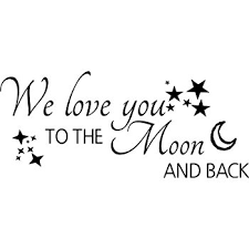 Quote I Love You To The Moon And Back Awesome Amazon We Love You To The Moon And Back Wall Quote Wall Sticker