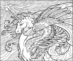 Small Picture Unicorn Coloring Pages for Adults Bestofcoloringcom