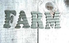 metal letters for wall farm corrugated decor vintage look free ship farmhouse rustic cutting c corrugated metal letters diy product
