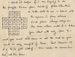 turing s solitaire letter to be auctioned two other lots in the auction are memorabilia concerning the geenbaum family whom turing had formed a close personal attachment