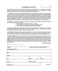 Consignment Contract Form Sample Sales Agreement Template Definition ...