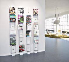 Wholesale Magazine Holders Hot Nylon Mesh A100 Size Brochure Stand Rolling Magazine Rack 31