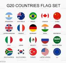 Legen Sie Flach Bunten Vektor Kreis Flaggen Der Mitgliedsländer G20 Gruppe  Von Nationen Stock Vektor Art und mehr Bilder von Flagge - iStock