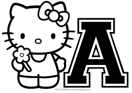 Small Picture HELLO KITTY COLORING PERSONALIZED COLORING PAGE INITIAL LETTER