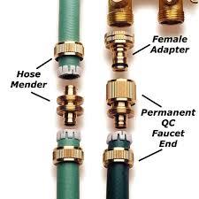 brass garden hose quick connect permanent kit 4 pieces by wade garden hose quick connect fittings