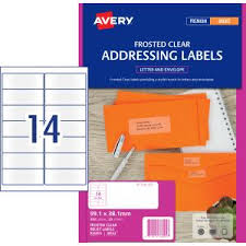 Avery Address Lables Avery Frosted Clear Address Labels For Inkjet Printers 99 1 X 38 1