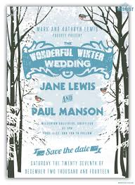 Winter Wedding Save The Date Winter Wedding Save The Date Wedfest