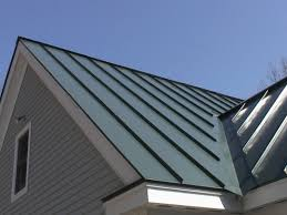 painted metal roofing business eaves