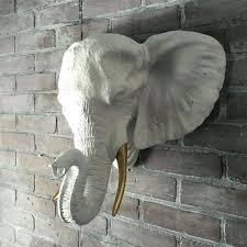 elephant head wall decor any color elephant head wall bust sculpture jungle safari nursery decor wall elephant head
