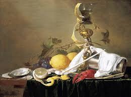 still life with fruit flowers gl and lobster c 1660s