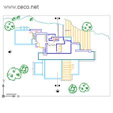 LA CASA DE LA CASCADAFalling Water Floor Plans