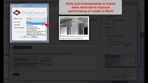 Clarkdietrich Top Deflection Track Selector For Revit