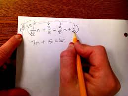 solving equations with variables on both sides clearing the fractions and decimals you