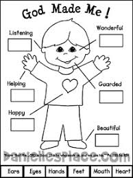 free printable bible lessons for preschoolers. Unique Printable God Made Me Activity Sheet Sunday School Bible Craft From  Wwwdaniellesplacecom Intended Free Printable Lessons For Preschoolers Danielleu0027s Place