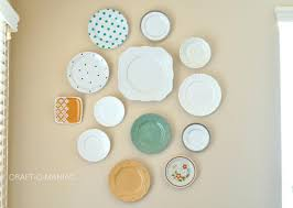 how to hang plates on wall command strips up decoration
