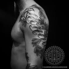 Hawaiian Cursive With Maile Lei Kulture Tattoo Kollective