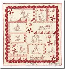 989 best QUILT RED & WHITE images on Pinterest | Easy quilts ... & Rabbits Prefer Embroidery: If you love embroidery this pattern is for you!  x quilt with embroidered bunnies! Featuring Chelsea Manor fabric from Anne  Sutton ... Adamdwight.com