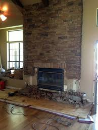affordable more fireplace demo and plans little green notebook with faux stone fireplace