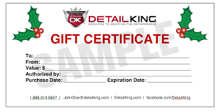 dk sle xmas gift certificicate offering gift certificate