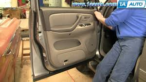 how to install replace remove door panel toyota sequoia 01 04 how to install replace remove door panel toyota sequoia 01 04 1aauto com