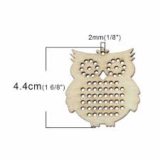 wood charm pendants raw diy cross stitch 44 x 41cm