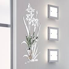 3d Diy Lotus Blume Spiegel Wand Aufkleber Abnehmbare Acryl Kunst