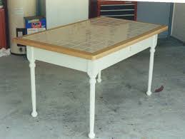 Architecture Table With Tile Top Busca Dores For Kitchen Idea 3 Wrought  Iron Trellis Carrara Marble