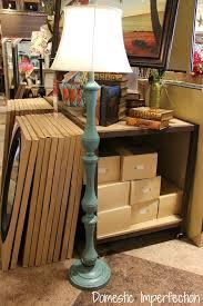 turquoise floor lamp